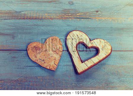Heart shape make of tree bark