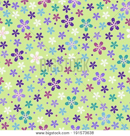 Flower seamless color pattern. Fashion multicolor background