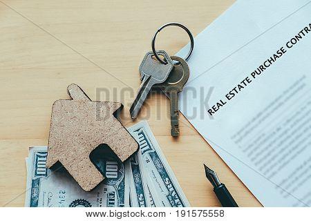 Real Estate Purchase Concept Idea.