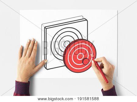 Target Dart Board Arrow Application Vector Graphic