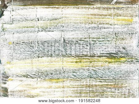 Hand-drawn abstract watercolor background. Used colors: White Lotion Milk Baby powder Pastel gray Bright gray Ghost white Cultured Axolotl Grullo Artichoke