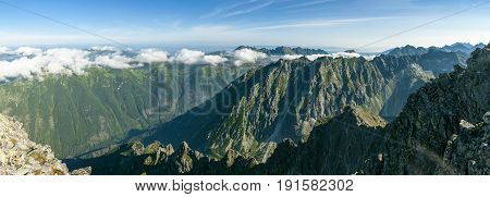 View From The Krivan Summit In The Slovak Tatras.