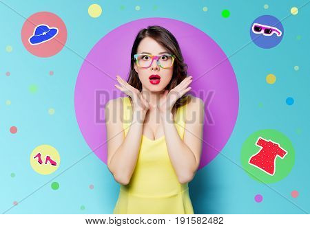 Young Surprised Woman In Glasses