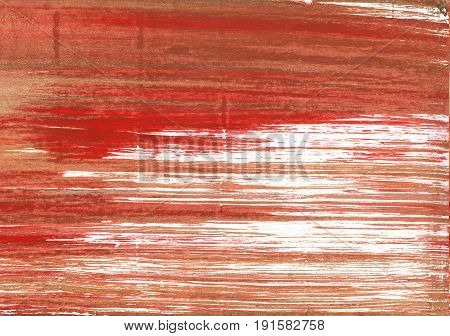 Hand-drawn abstract watercolor background. Used colors: Medium carmine Copper red White Terra cotta Copper Chinese brown Dark coral Deep chestnut Chestnut