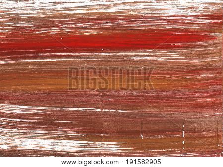 Hand-drawn abstract watercolor background. Used colors: Chestnut Coconut White Fuzzy Wuzzy Bole Brown Sugar Redwood Copper red Burnt umber Milk chocolate
