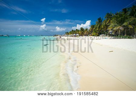 An idyllic beach on Isla Mujeres, Cancun, Mexico