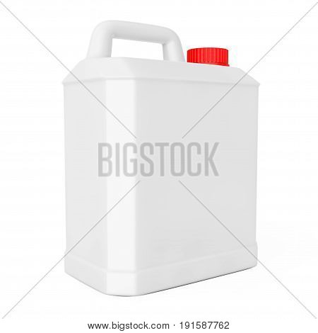 White Plastic Blank Container on a white background. 3d Rendering.