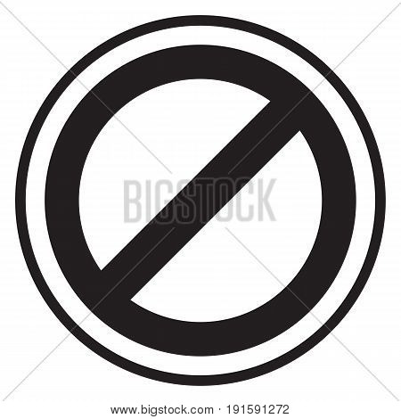 Prohibition symbol Do Not Enter Sign Abstract  Alertness
