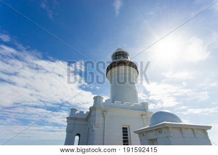 architecture, attraction, australia, bay, beauty, blue, building, byron, byron bay, cape, clear, clouds, coast, day, daytime, destination, east, heritage, historic, house, landmark, light, lighthouse, new, new south wales, nsw, ocean, path, people, pictur