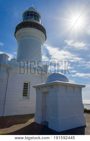 The iconic Byron Bay Lighthouse on Australia's east coast is a popular tourist destination for travelers from all over the world