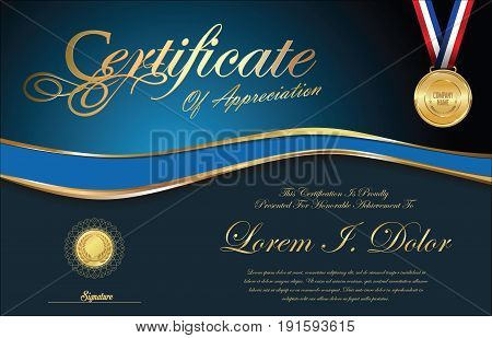 Certificate Or Diploma Retro Vintage Template.eps