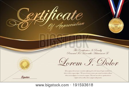 Certificate Or Diploma Retro Vintage Template 2.eps