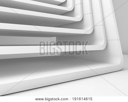 Curved Frames Structure. 3D Render