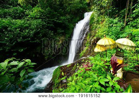 View of Git Git waterfall in Bali Indonesia