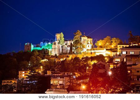 Trsat Sanctuary And Old Town Night View