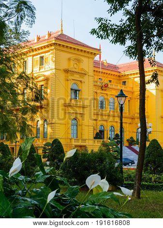 Ho Chi Minh, Presidential Palace In Hanoi