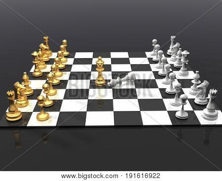 3d chess concept  . 3d rendered illustration