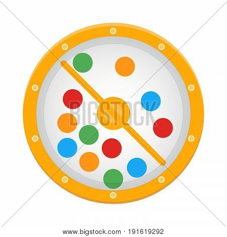 Lotto drum, lottery, bingo, game, risk, luck.Vector illustration