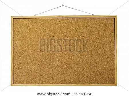 Reminder wooden board isolated on white