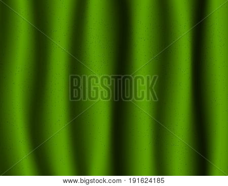 Beautiful Green Drapery glossy Silk textile Background.