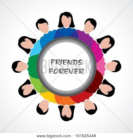 illustration of Happy Friendship Day Greeting stock vector