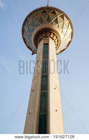 Milad tower in Tehran capital of Iran. the sixth tallest tower and the 24th tallest freestanding structure in the world.