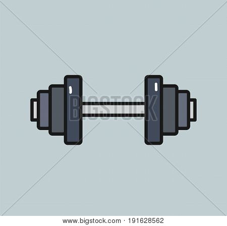 Dumbbell weight icon. Dumbell weight isolated. Vector stock.