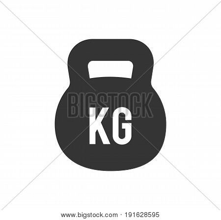 Weight Kilogram Icon. Weight kilogram isolated on white background. Vector stock.