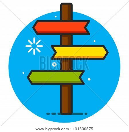 signpost icon illustration art graphic design rasterized
