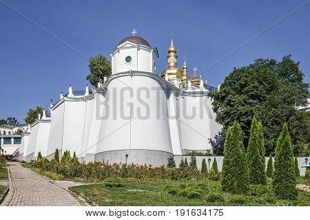 Kiev, Ukraine. Pechersk Lavra Monastery landscape view