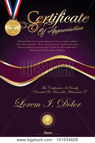 Certificate Or Diploma Retro Vintage Template 3.eps