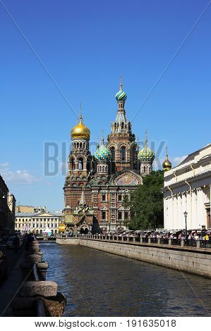 The Church Of The Savior On Blood In Saint Petersburg