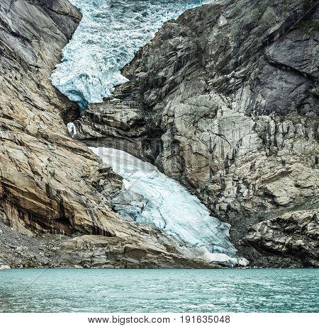 Glacier Briksdal in national nature park, Norway.