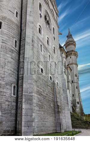 Bavarian palace castle Neuschwanstein in Bavaria, Germany