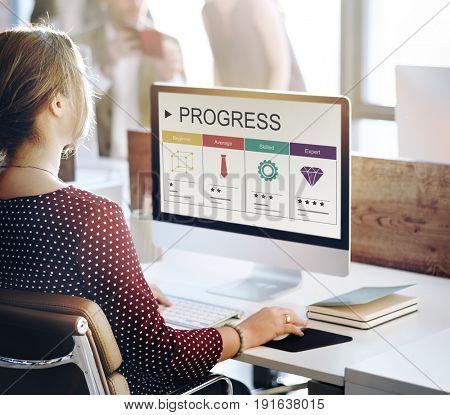 Career Skills Progress Graphic Icon Symbol