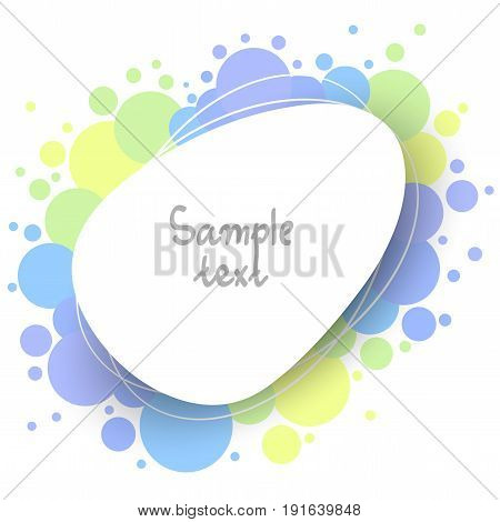 abstract colorful background with empty shape and copy-space vector