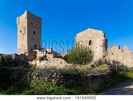 Traditional tower house in the old town of Kardamyli in Peloponnese, Greece