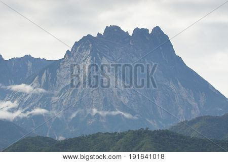 View of Mount Kinabalu as background in Sabah, Borneo Malaysia