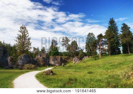 Wental (wen Valley) Felsenmeer In The Swabian Alb, Baden-württemberg, Germany