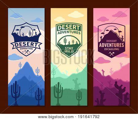 Desert Adventures Vertical Banner Set