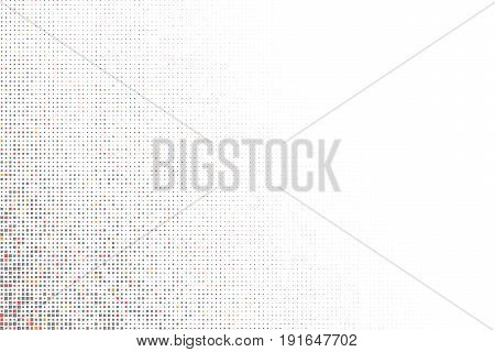 Vector geometric backdrop. Fading rectangle massive. Numerous abstract little squares illustration on light background