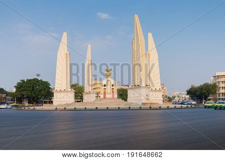 Thailand democracy monument ( Anusawari Prachathipatai ) public monument in the centre of Bangkok capital of Thailand