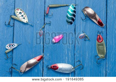 Multicolored Accessories. Multicolored Bait For Fishing.