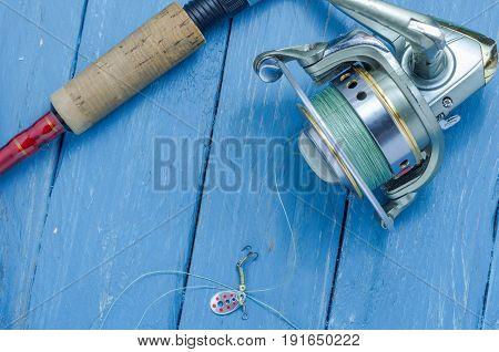 Small Fishing Spoon, Fishing Reel, Spinning For Pike, Bass, Predator Fishing.