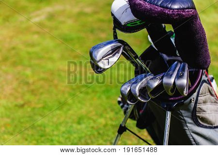 Golf Equipment On Green