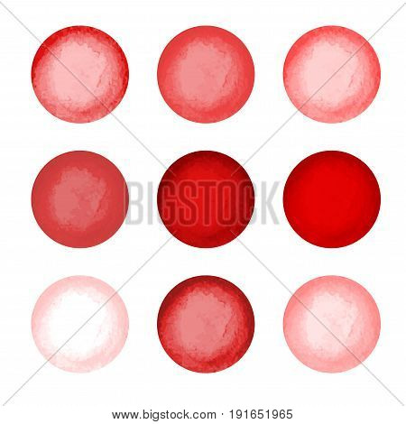 Bright color vector illustration. Watercolour circle textures. Mega-useful pack for you to drag and drop onto your designs. Perfect for branding, greetings, websites, digital media, invites, weddings, merchandise designs and so much more.