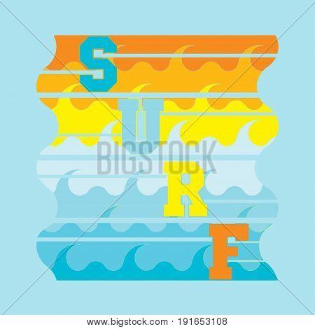 surf Miami Beach Florida surfing t-shirts T-shirt inscription typography graphic design emblem