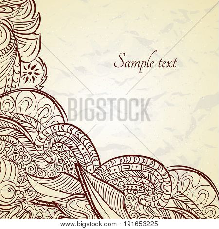 Ornamental frame in eastern style. Paisley frame template