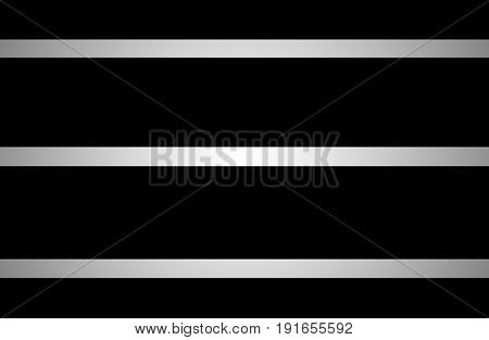 Glowing silver gradient lines across on black background