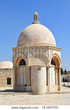 Dome of the Ascension, spot from which Muhammad ascended to Heaven, Temple Mount, Old City of Jerusalem, Israel